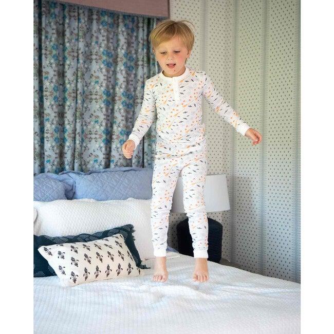 Hocus Pocus Halloween Pima Cotton Pajama Set, Blue