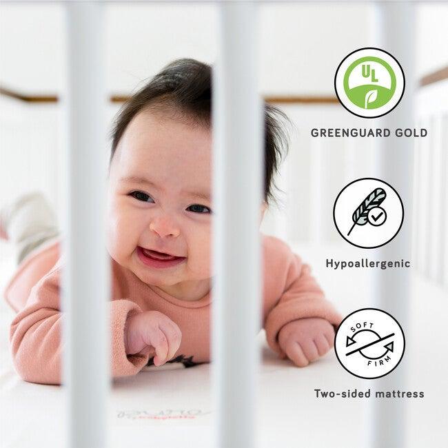Pure Core Crib Mattress & Smart Water Repellent Cover, White
