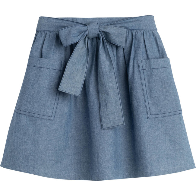 Willow Bow Skirt, Chambray