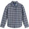 Max Button Down, Blue Check - Shirts - 1 - thumbnail