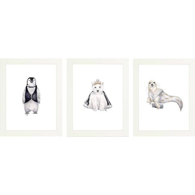 Set of 3 Fancy Animals Prints, Polar - Art - 1