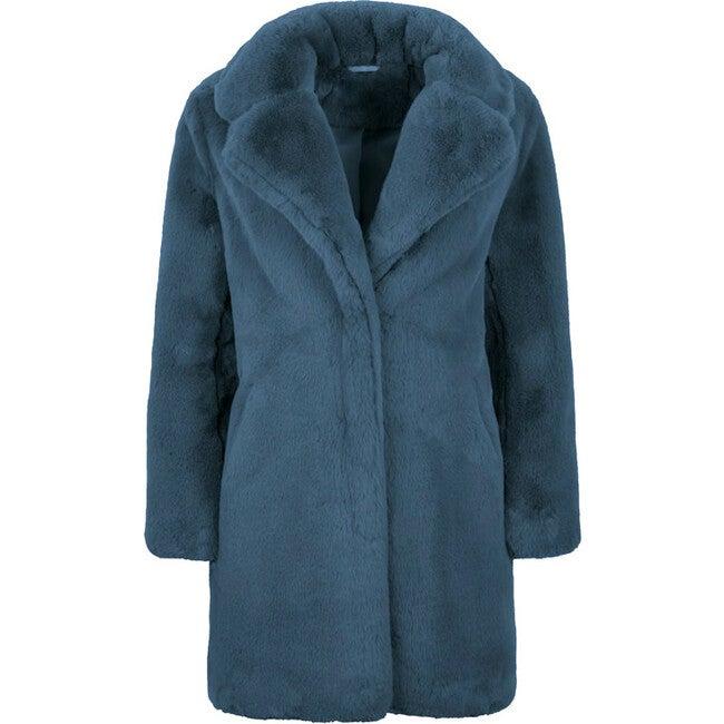 Stella Women's Faux Fur Jacket, Stone Blue