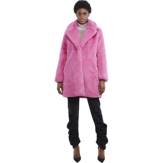 Stella Women's Faux Fur Jacket, Sugar Pink