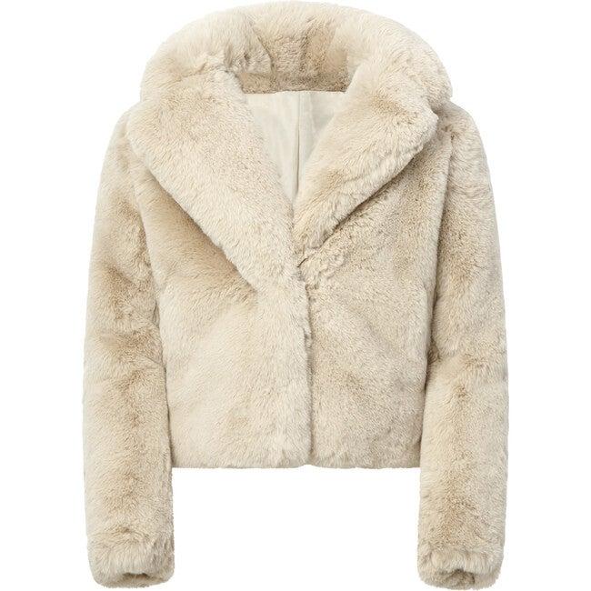 Milly Kids Faux Fur Jacket, Latte