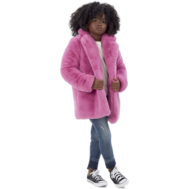 Stella Kids Faux Fur Jacket, Sugar Pink