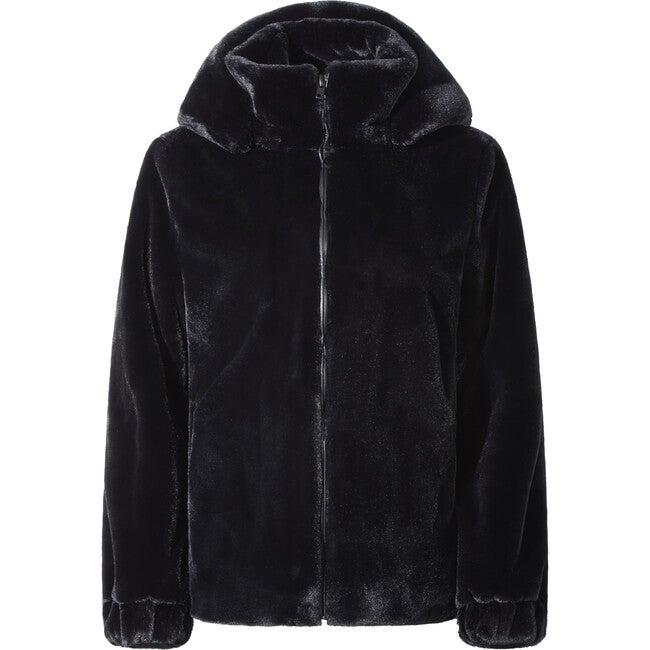 Maddie Women's Faux Fur Jacket, Noir