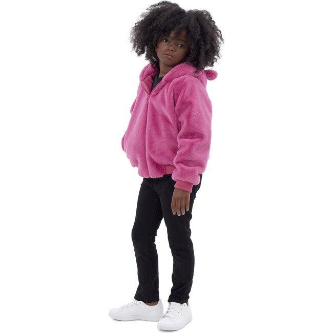 Lily Kids Faux Fur Jacket, Sugar Pink