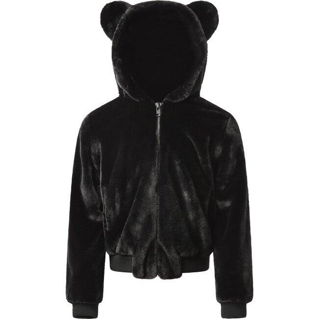 Lily Kids Faux Fur Jacket, Noir