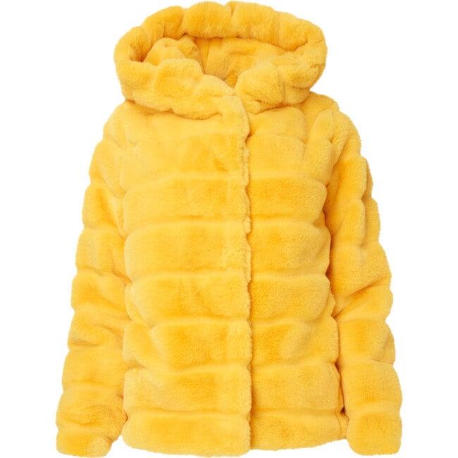 Goldie Women's Faux Fur Jacket, Dandelion
