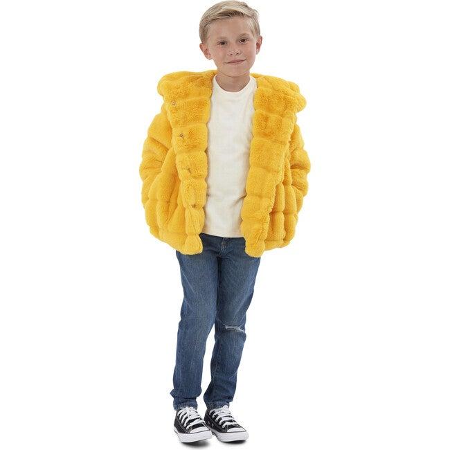 Goldie Kids Faux Fur Jacket, Dandelion