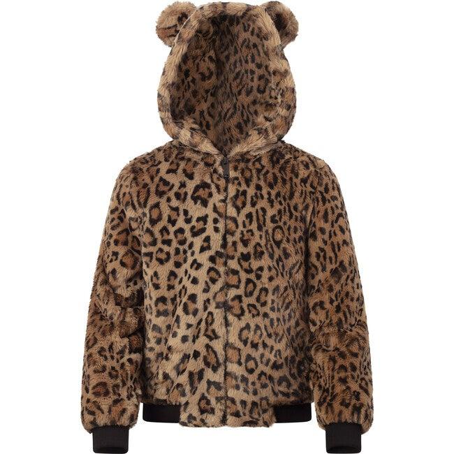 Lily Kids Faux Fur Jacket, Leopard