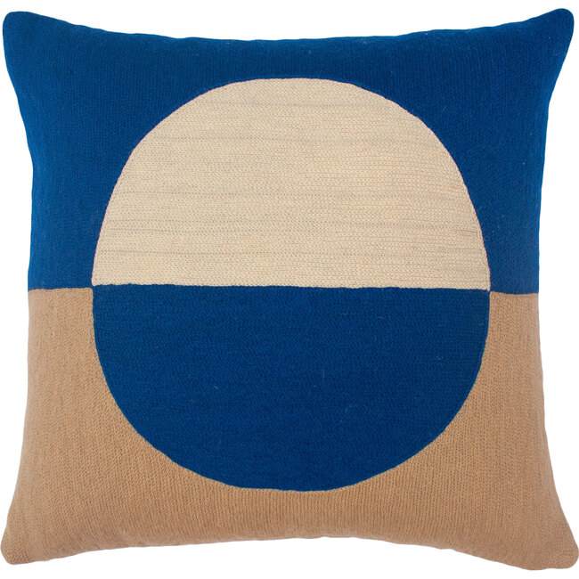 Marianne Circle Pillow Cover, Cobalt