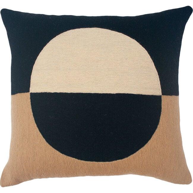 Marianne Circle Pillow Cover, Black
