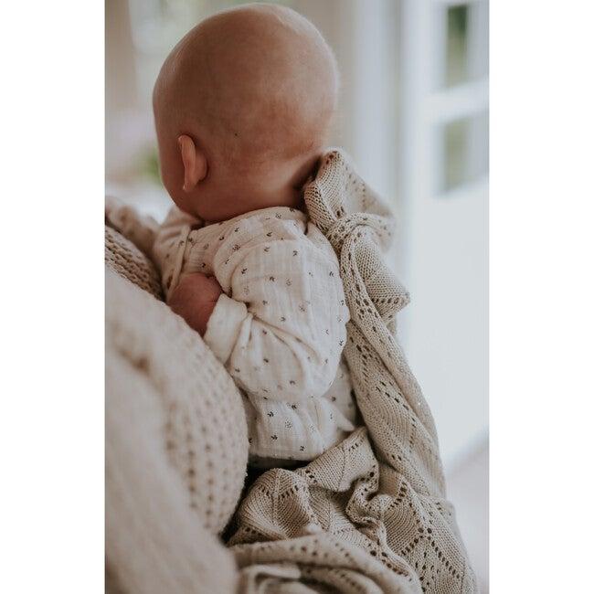 Bamboo Knit Baby Blanket, Beige
