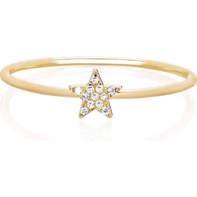 Women's 14K Mini Diamond Star Stack Ring