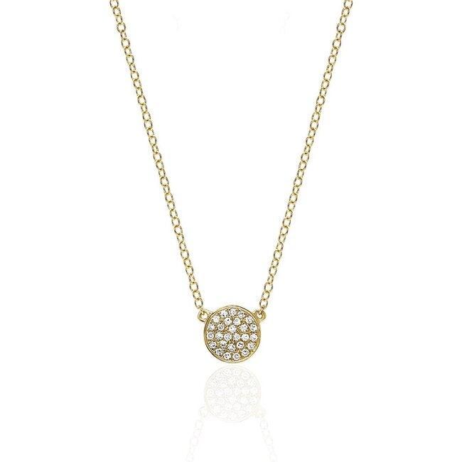 Women's 14K Diamond Mini Disc Necklace