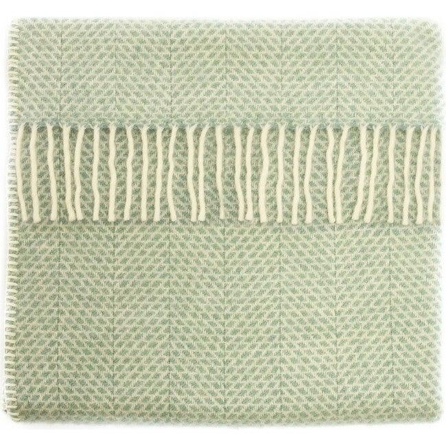 Mornington Wool Baby Blanket, Duck Egg