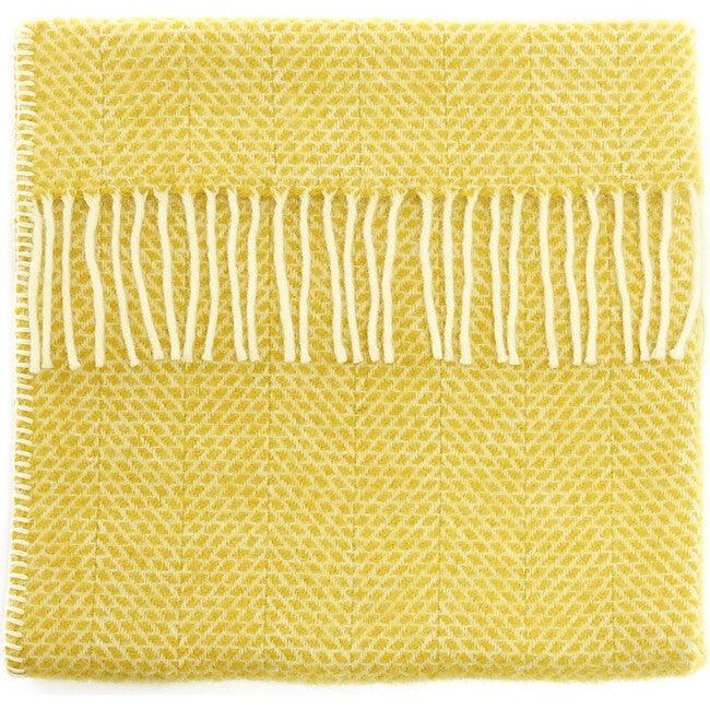 Mornington Wool Baby Blanket, Sunshine Yellow