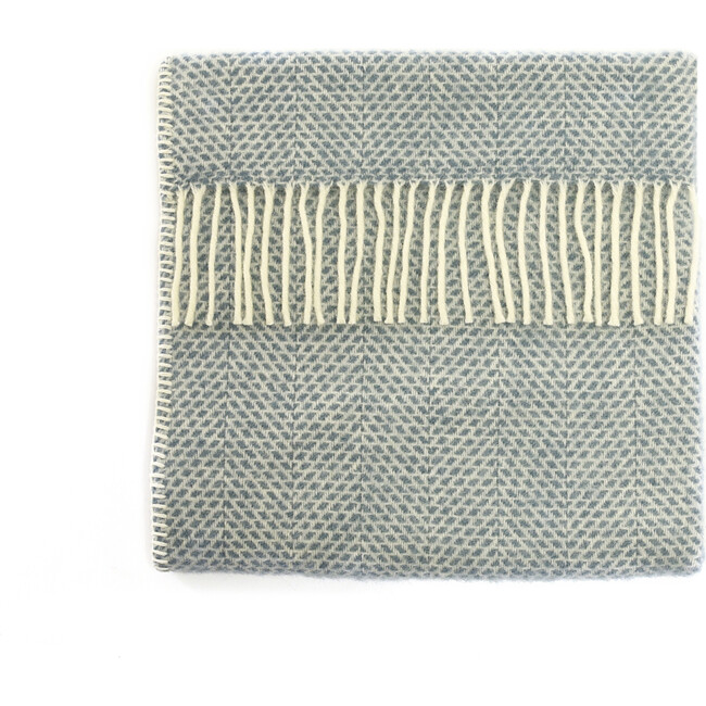 Mornington Wool Baby Blanket, Storm Blue