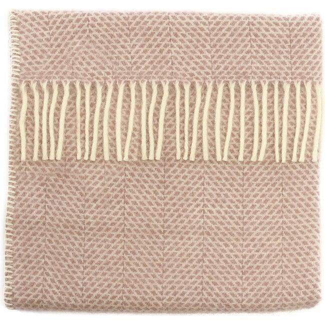 Mornington Wool Baby Blanket, Dusky Pink