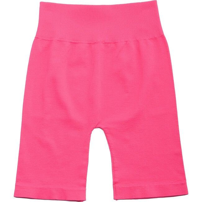 Women's Bai Ribbed Biker Shorts, Hot Pink