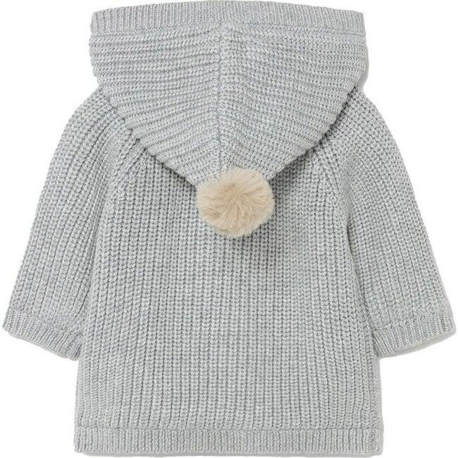 Hooded Knit Jacket, Gray