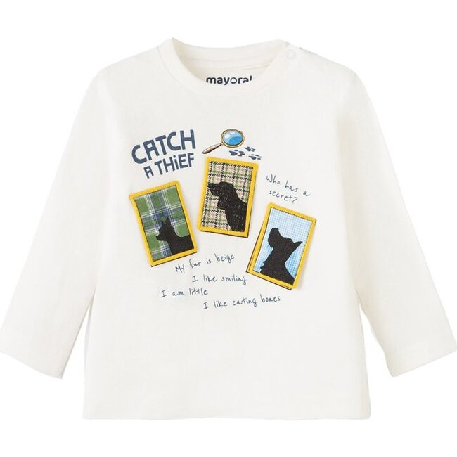 Evidence Graphic T-Shirt, Cream
