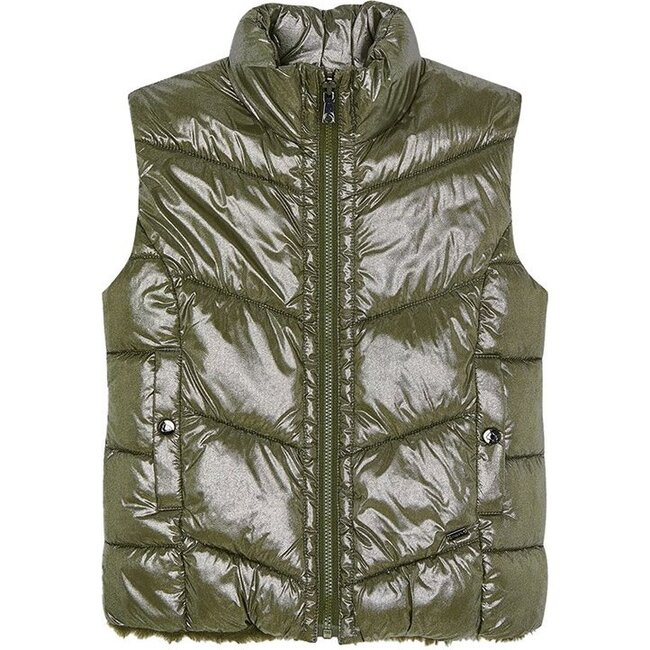 Reversible Puffer Vest, Green