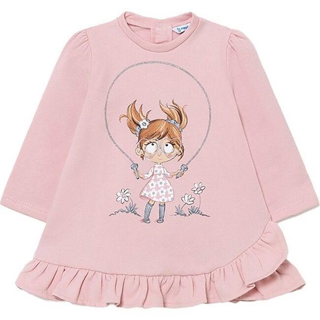 Playtime Fleece Dress, Pink