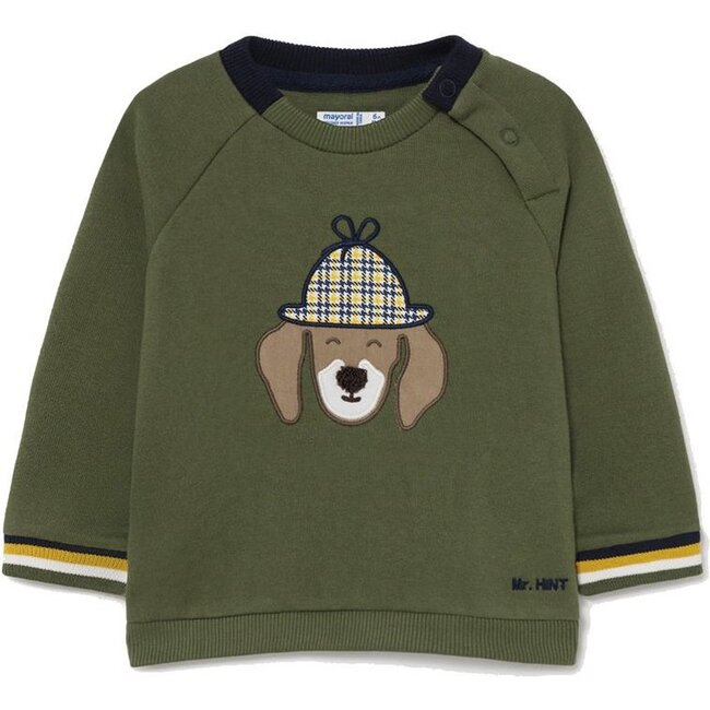 Detective Dog Sweater, Green