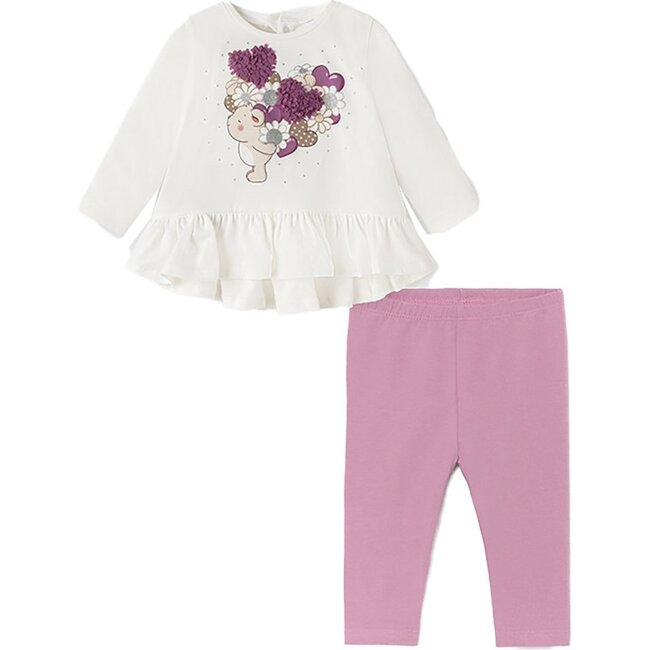 Floral Outfit Set, White