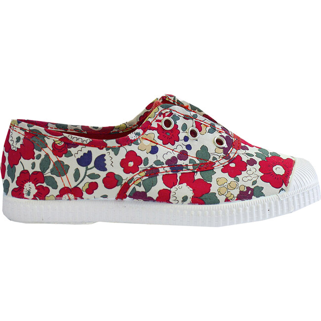 Plum Canvas Sneakers, Liberty Red Betsy