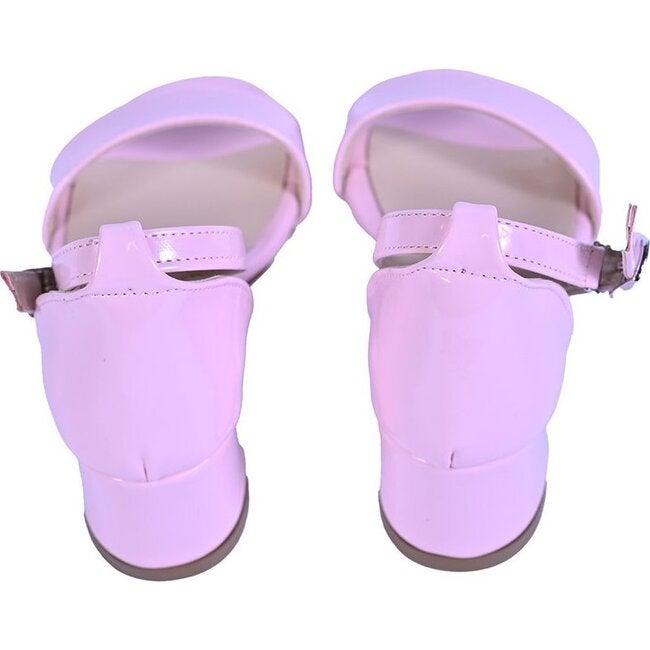 Patent Sandal-Strap Heels, Pink