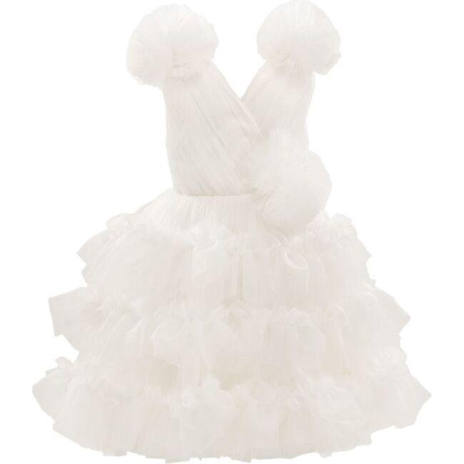 Corinne Ruffle Dress, White