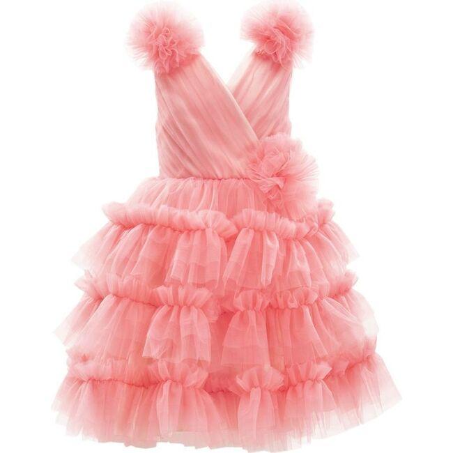 Corinne Ruffle Dress, Fuchsia