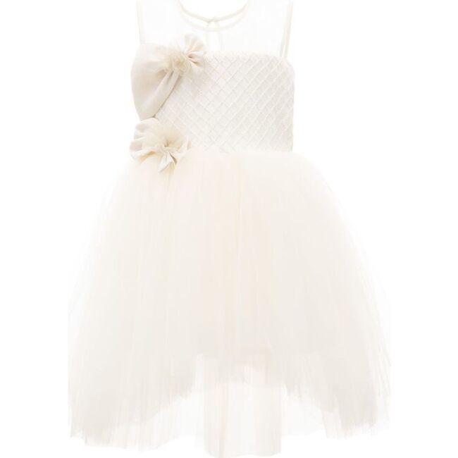 Auzerais Bow Dress, Gold