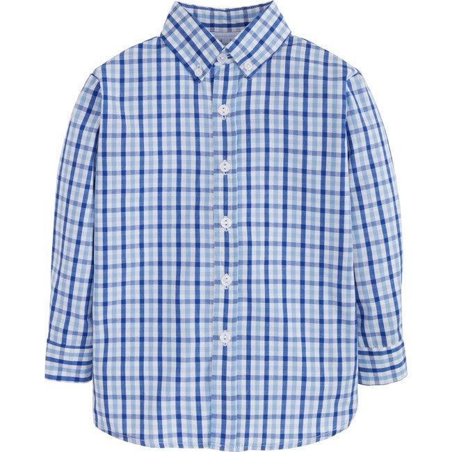 Button Down Shirt, Seaside Plaid