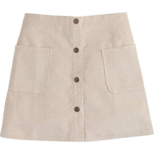 Emily Pocket Skirt, Khaki Corduroy