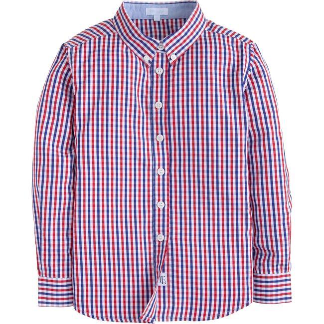 Button Down Shirt, Bloomy Plaid