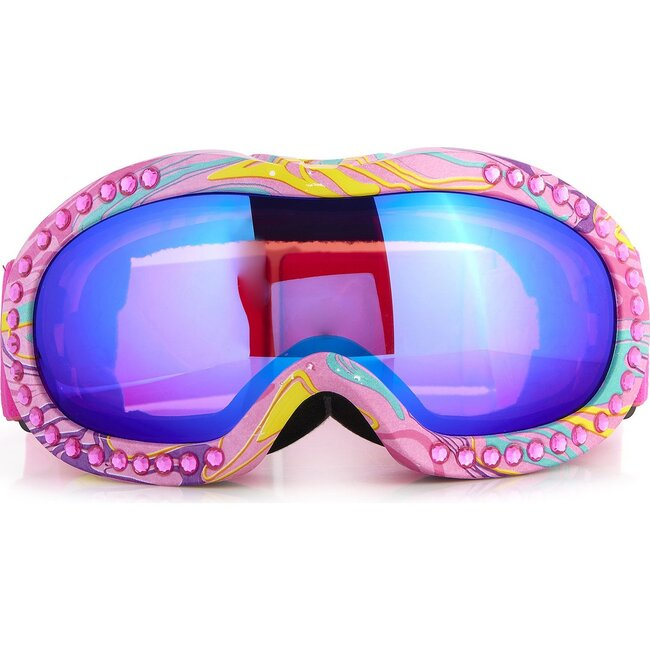Ski Goggle, Multi Color Swirl Frame