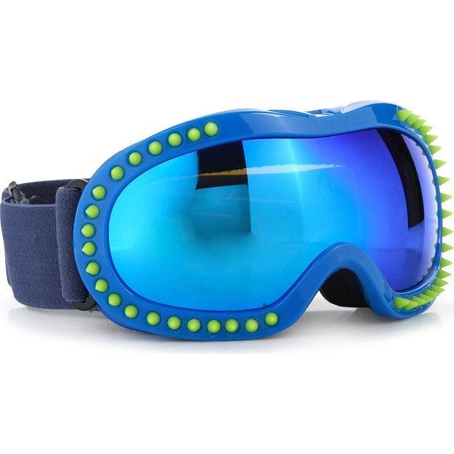 Ski Goggle, Green Spike Blue Frame