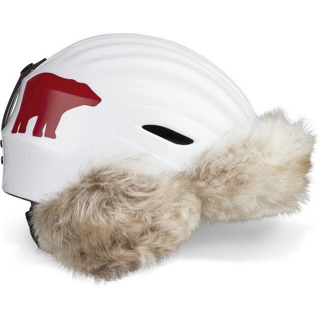 Polar Bear Helmet,  White with Faux Fur