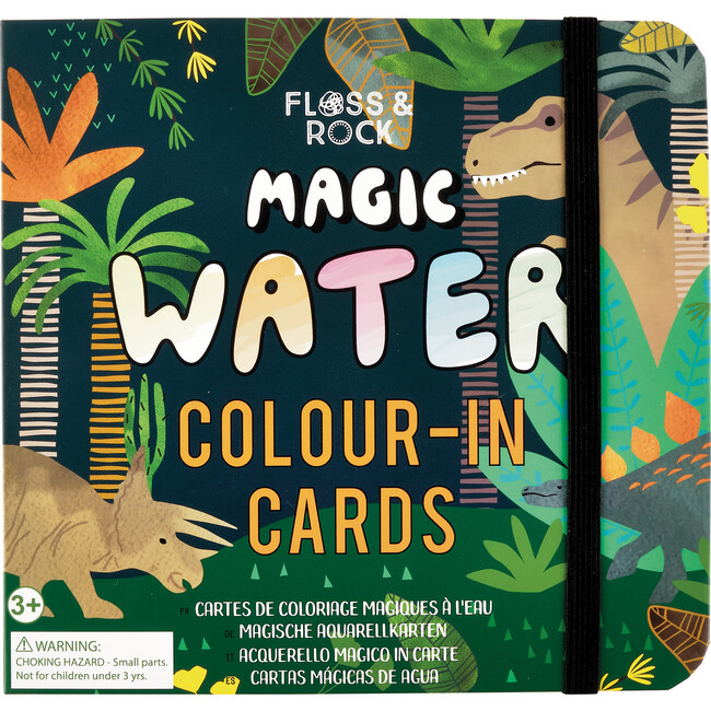 Dinosaur Magic Water Colour-In Cards