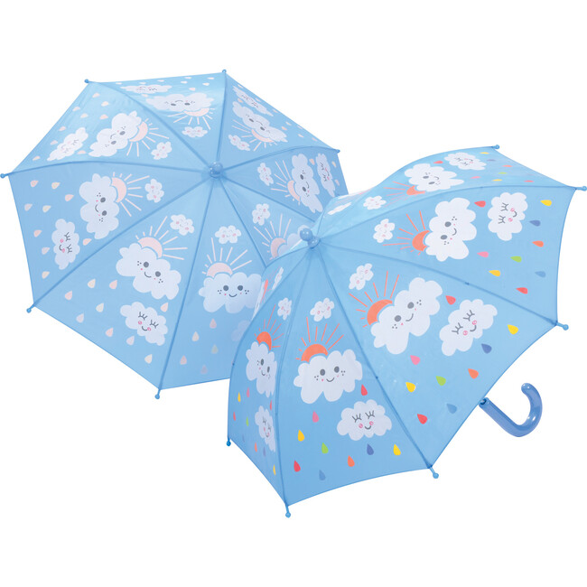 Raindrops and Clouds Color Changing Umbrella