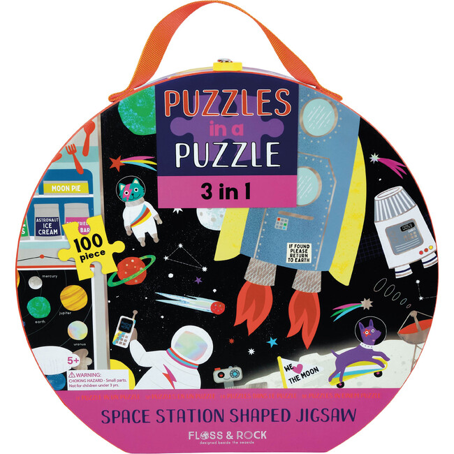 3-in-1 100 Piece Space Puzzle