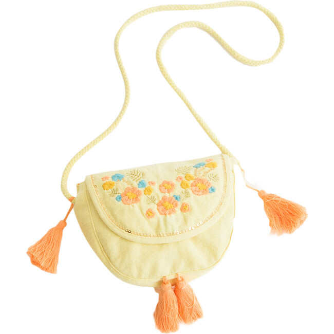 Yellow Embroidery Purse - Bags - 1