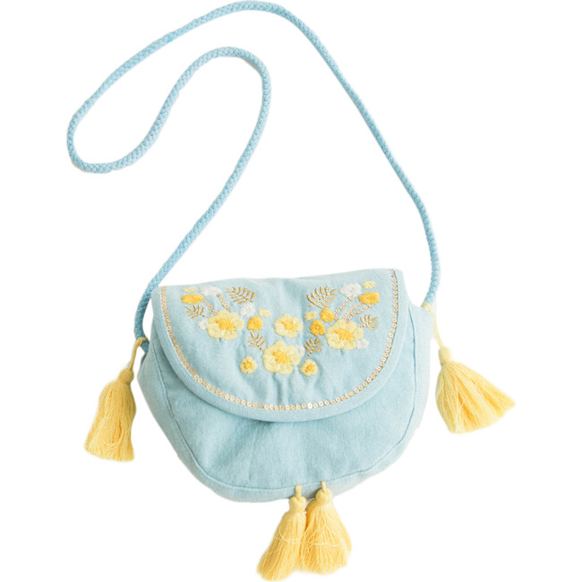 Blue Embroidery Purse - Bags - 1