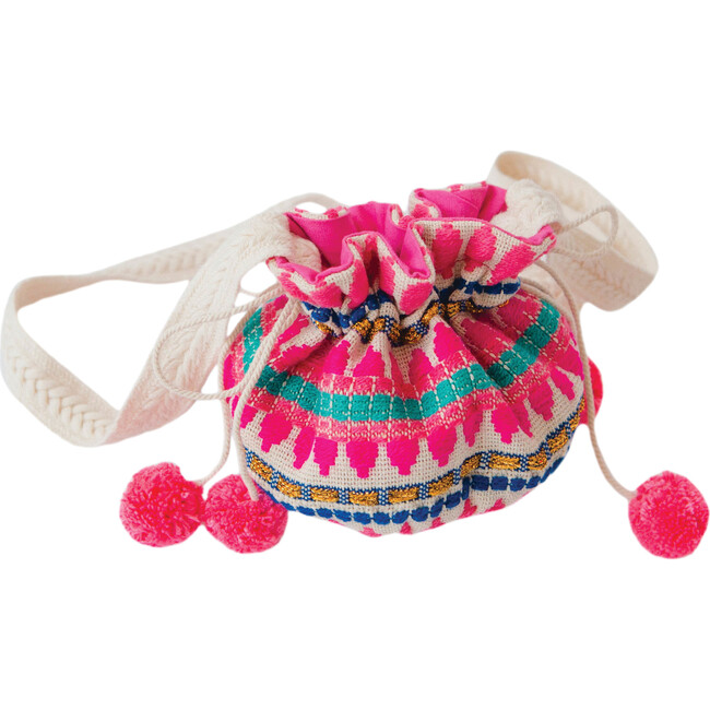 Jacquard Purse, Pink Dot - Bags - 1
