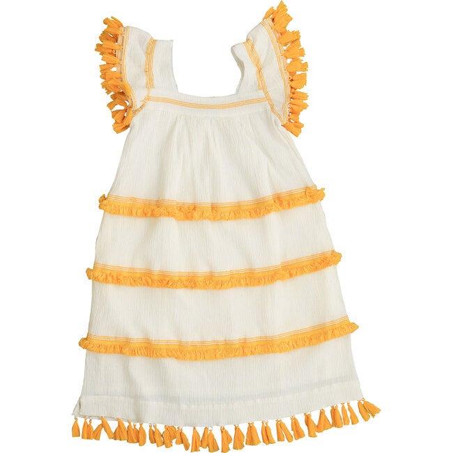 Women's Sandrine Fringe Dress, White