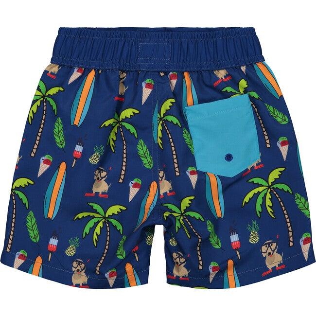Cabana Chill Swim Trunk, Blue Surf